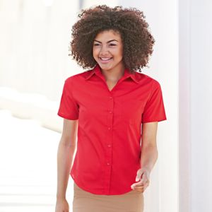 Lady-fit poplin short sleeve shirt Thumbnail