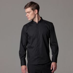 Bar shirt mandarin collar long sleeve Thumbnail