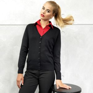 Women's button-through knitted cardigan Thumbnail