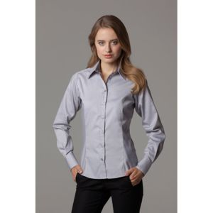 Women's contrast premium Oxford shirt long sleeve Thumbnail