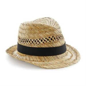 Straw summer trilby Thumbnail