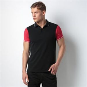 Contrast tipped polo Thumbnail