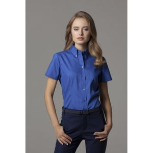 Women's corporate Oxford blouse short-sleeved (tailored fit) Thumbnail