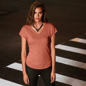 Anvil women's triblend v-neck tee Thumbnail