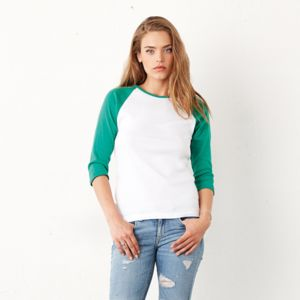 Affiliate - BE073 Women's ¾ Sleeve Baseball Shirt Thumbnail