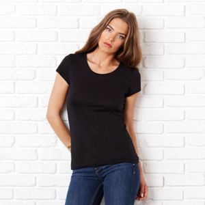 Sheer mini rib crew neck t-shirt Thumbnail
