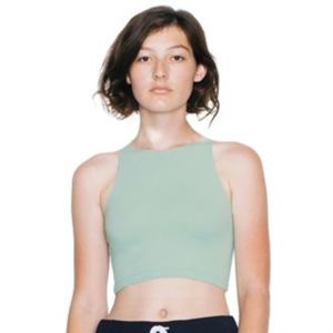 Cotton Spandex sleeveless crop top Thumbnail
