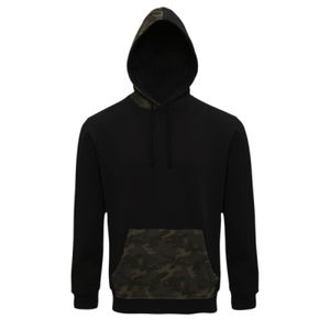 Men's camo trimmed hoodie Thumbnail