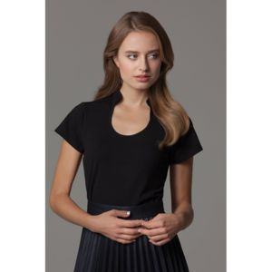 Women's corporate top keyhole neck (regular fit) Thumbnail