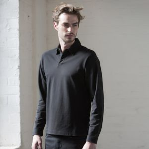 Long sleeve stretch polo Thumbnail