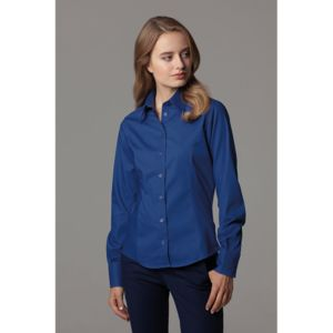 Women's corporate Oxford blouse long-sleeved (tailored fit) Thumbnail