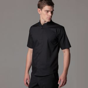 Bar shirt mandarin collar short sleeve (tailored fit) Thumbnail