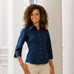 Women's ¾ sleeve Tencel® fitted shirt Thumbnail