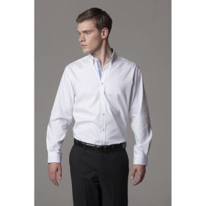 Contrast premium Oxford shirt (button-down collar) long-sleeved (tailored fit) Thumbnail