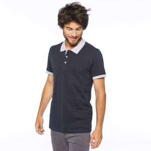 Two-tone piqué polo shirt Thumbnail