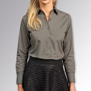 Women's poplin long sleeve blouse Thumbnail
